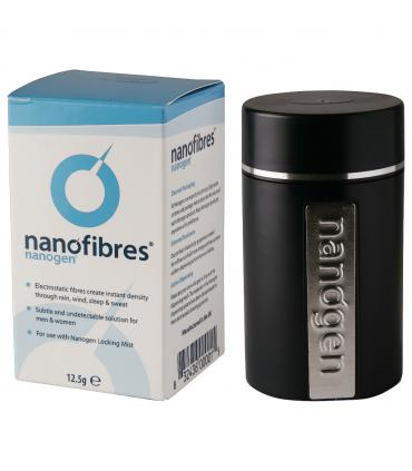 Наноген Нанофайбрс Вайт (Белая седина) - Nanofibres - Nanogen Hair Building Fibers White - нановолокна для маскировки облысения.