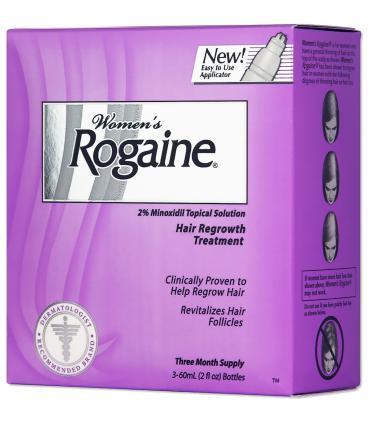 Рогейн 2% (Rogaine 2%) выпускается в розовой упаковке. В США  есть и упаковки белого цвета.