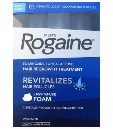 Рогейн 5% пена (Rogaine 5% Foam) с конца 2012 года выпускается в картонной упаковке, ранее это были пластиковые контейнеры.