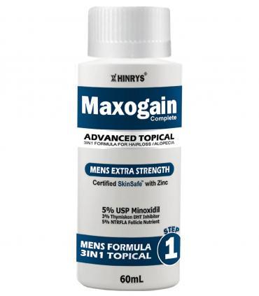 "Максогейн для мужчин - Улучшенный состав ""3 в 1"" - Миноксидил 5% 1 фл х 60 мл [Maxogain Mens Advanced 3in1 Topical Formula - Minoxidil 5% 1 bot х 60 ml]"