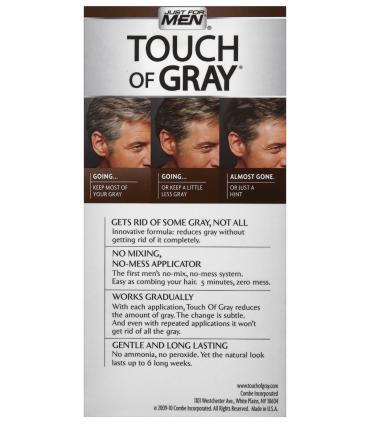 Краска Джаст фо Мен Тач оф Грей [Just For Men Touch of Grey] скрывает только часть седины для сохранения естественного вида.
