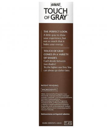 Мужская краска для волос Джаст фо Мен Тач оф Грей Дак Браун темно-коричневый T-45 [Just For Men Touch of Grey Dark Brown-Gray].