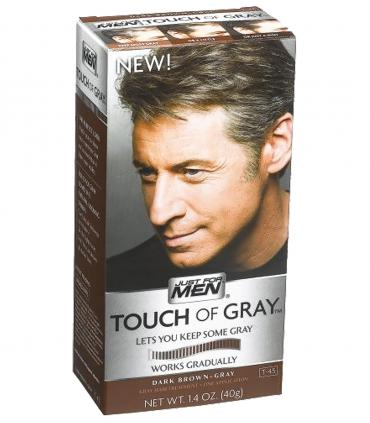 Краска для скрытия седины Джаст фо Мен Тач оф Грей Дак Браун темно-коричневый T-45 [Just For Men Touch of Grey Dark Brown-Gray].