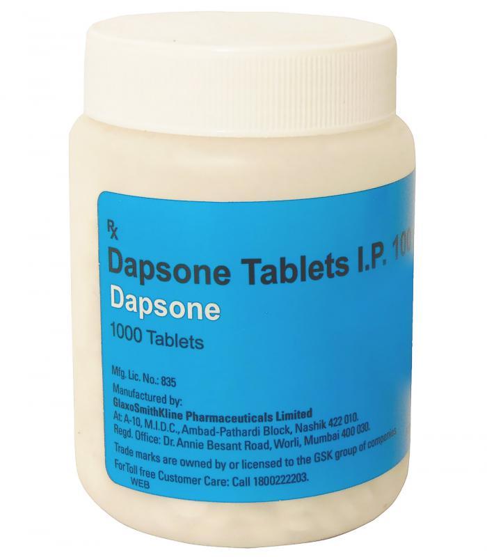 Дапсон (1000 таб х 100 мг диаминодифенилсульфона) [Dapson (1000 tab х 100 mg diaminodiphenylsulfone)]