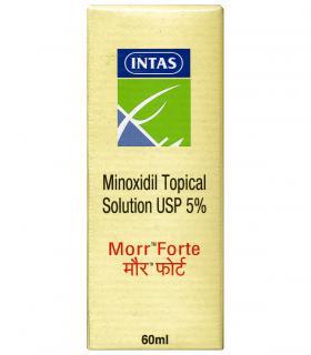 Morr-Forte - самая недорогая форма миноксидила 5% для лечения облысения у мужчин при абсолютно одинаковой эффективности.