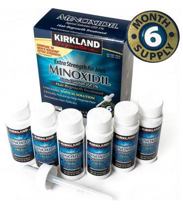 Миноксидил 5% Кирклэнд Сигнейча [Minoxidil 5% Kirkland Signature] - это курс на 6 месяцев лечения облысения.