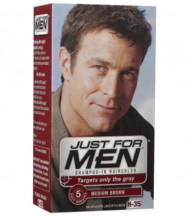 Джаст фо Мен Медиум Браун средне-коричневый H-35 [Just for Men Medium Brown H-35] - другой дизайн той же самой краски для волос.