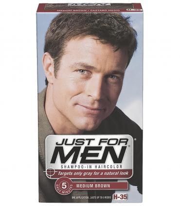 Краска, которая отлично и незаметно скрывает седину всего за 5 минут - Джаст фо Мен Медиум Браун H-35 [Just for Men H-35].