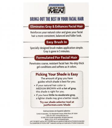 Как применять гель-краску для бороды и усов Джаст фо Мен Медиум Браун (средне-коричневый) M-35 [Just for Men Medium Brown M-35]