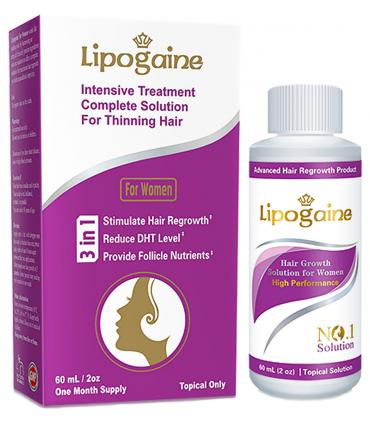 Липогейн - 2% миноксидил для женщин с блокаторами ДГТ и витаминами, с пропиленгликолем [Lipogaine - 2% Minoxidil for Women with DHT blockator and vitamins, with Propylene glycol]