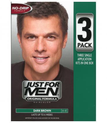 Джаст фо Мен Дак Браун темно-коричневый H-45 (тройная упаковка) [Just for Men Dark Brown H-45 - triple pack]