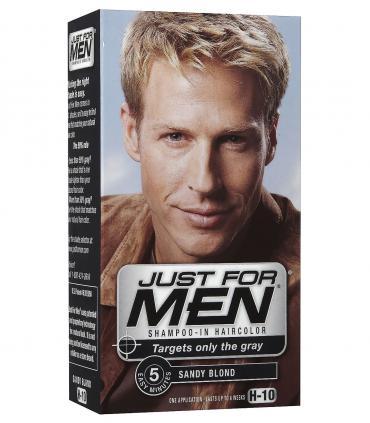 Другая форма упаковки Джаст фо Мен Сэнди Блонд (рыжевато-светлый) H-10 [Just for Men Sandy Blond H-10] - выпускалась чуть раньше