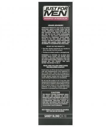 Ингредиенты Джаст фо Мен Сэнди Блонд (рыжевато-светлый) H-10 [Just for Men Sandy Blond H-10] - мужская краска для волос.