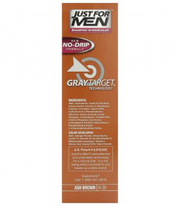 Ингредиенты мужских красок для волос Джаст фо Мен [Just for Men] указаны на боковой стороне упаковки.