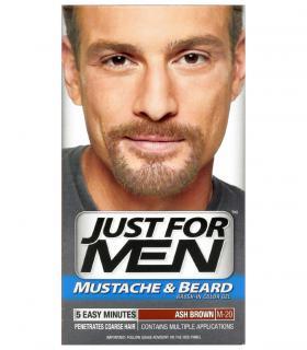 Гель-краска для бороды и усов Джаст фо Мен Эш Браун (бледно-коричневый) M-20 [Just for Men Ash Brown M-20] для закраски седины