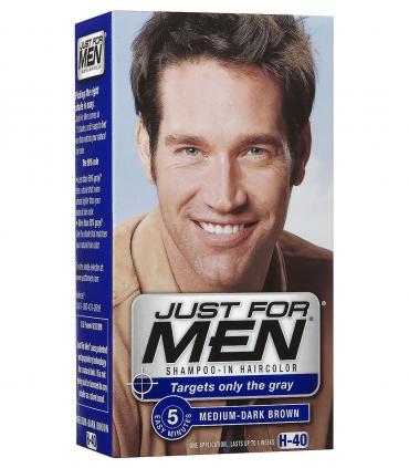 Джаст фо Мен Медиум-Дак Браун средне-темно-коричневый H-40 [Just for Men Medium-Dark Brown H-40] - мужские краски для волос