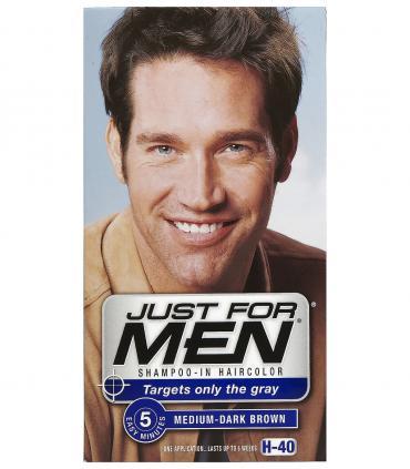 Другой дизайн упаковки Джаст фо Мен Медиум-Дак Браун средне-темно-коричневый H-40 [Just for Men Medium-Dark Brown H-40]