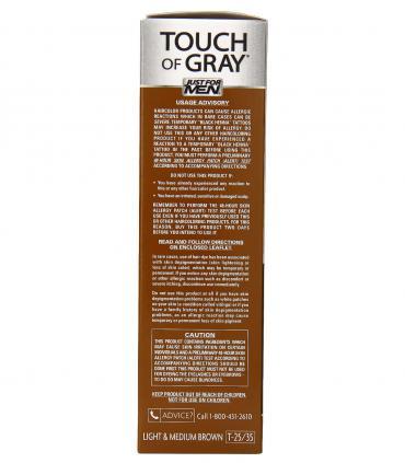 Рекомендации по применению красок для волос Just For Men Touch of Grey Light & Medium Brown T-25/35 [Джаст фо Мен Тач оф Грей]