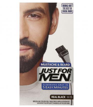 Джаст фо Мен - Краска-гель для бороды и усов черная Риал Блэк M-55 [Just for Men Mustache & Beard Real Black M-55]
