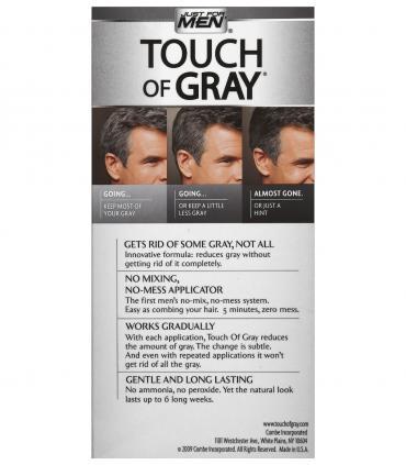 Обратная сторона упаковки в другом дизайне Just For Men Touch of Grey Black T-55 - мужских красок для скрытия седины