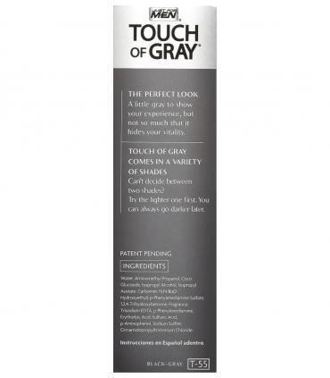 Боковая сторона упаковки в другом дизайне Just For Men Touch of Grey Black T-55 - мужских красок для скрытия седины