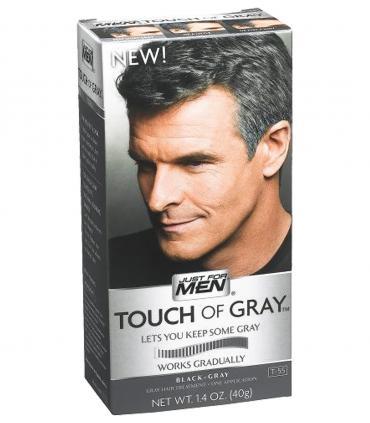 Краски Just For Men Touch of Grey Black T-55 предназначены для мужчин с большим количеством седины и скрывают часть седины