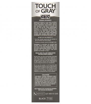 Перед применением красок для скрытия седины Джаст Фо Мен Тач оф Грей Блэк T-55 ознакомьтесь с рекомендациями на упаковке