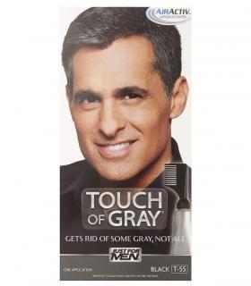 Краски Just For Men Touch of Grey Black T-55 скрывают часть седины, сохраняя естестественный вид при густой седине