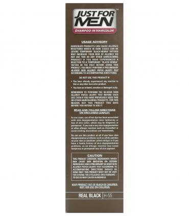 Рекомендации по применению красок для скрытия седины Джаст фо Мен Риал Блэк черный H-55 [Just for Men Real Black H-55]