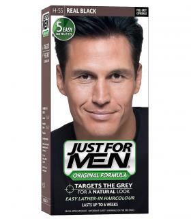 Джаст фо Мен Риал Блэк черный H-55 [Just for Men Real Black H-55] - краска для скрытия седины за 5 минут