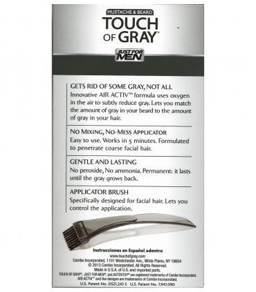 Just for Men Touch of Gray Mustache and Beard Dark Brown & Black B-45/55 не требует смешивания ингредиентов