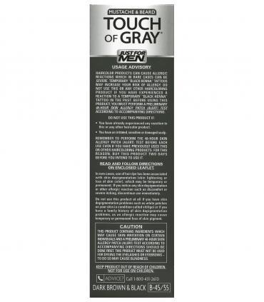 Just for Men Touch of Gray Mustache and Beard Dark Brown & Black B-45/55 - рекомендации по применению краски для бороды