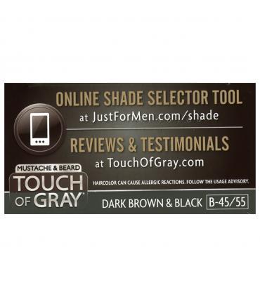 Ссылка на онлайн подбор неоходимого оттенка красок для бороды, усов и бакенбардов Just for Men Touch of Gray Mustache and Beard