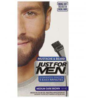 Джаст фо Мен - Краска-гель для бороды и усов средне/темно-коричневая Медиум-Дак Браун M-40 [Just for Men Mustache & Beard M-40]