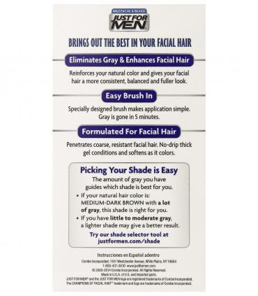 Краска для бороды и усов средне/темно-коричневая Джаст фо Мен Медиум-Дак Браун M-40 [Just for Men Mustache & Beard M-40]