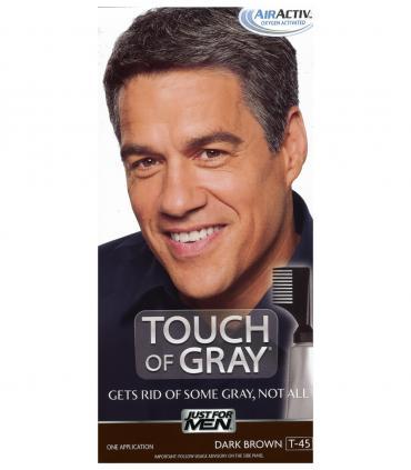 Джаст фо Мен Тач оф Грей Дак Браун темно-коричневый T-45 [Just For Men Touch of Grey Dark Brown-Gray T-45]