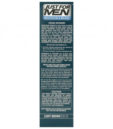 Just for Men Mustache & Beard Light Brown M-25 [Джаст фо Мен - Краска-гель для бороды и усов светло-коричневая M-25]