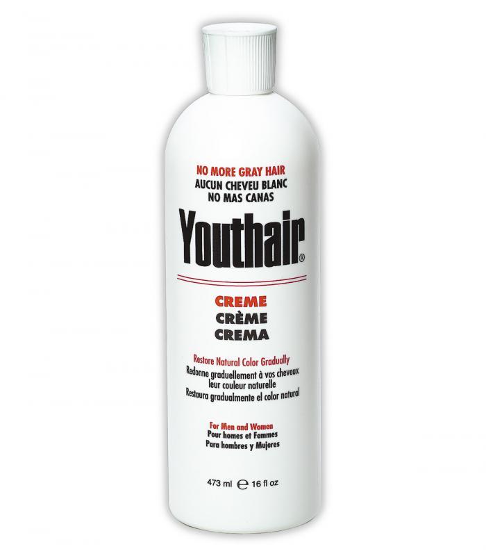 Youthair (ЮсХэа) - Крем для восстановления натурального цвета седых волос для мужчин и женщин (473 мл) [Youthair for Men and Women (473 ml)]
