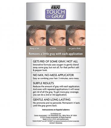 Джаст фо Мен Тач оф Грей Медиум Браун средне-коричневый [Just For Men Touch of Grey Medium Brown-Gray]: мужская краска для волос