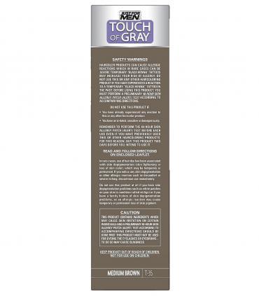 Мужская краска для волос Just For Men Touch of Grey Medium Brown-Gray T-35 предназначена для мужчин с высокой степенью поседения