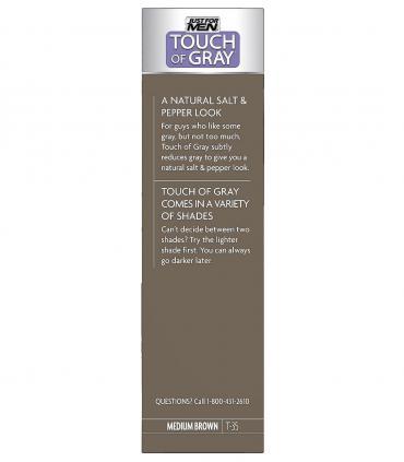 Мужская краска для волос Just For Men Touch of Grey Medium Brown-Gray T-35 скрывает седину на 6 недель