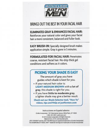 Что надо учесть при закрашивании седины волос бороды и усов с помощью красок Just For Men [Джаст Фо Мен].