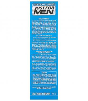Краски, скрывающие за несколько минут седину бороды и усов Just For Men Light-Medium Brown M-30 - особенности применения.