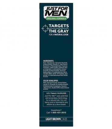 Состав красок Джаст фо Мен (Just for Men) компании Комбе (Combe Inc) таков, что он сохраняет здоровый вид волос.