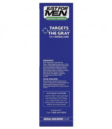 Джаст фо Мен Медиум-Дак Браун средне-темно-коричневый H-40 [Just for Men Medium-Dark Brown H-40] - ингредиенты мужских красок