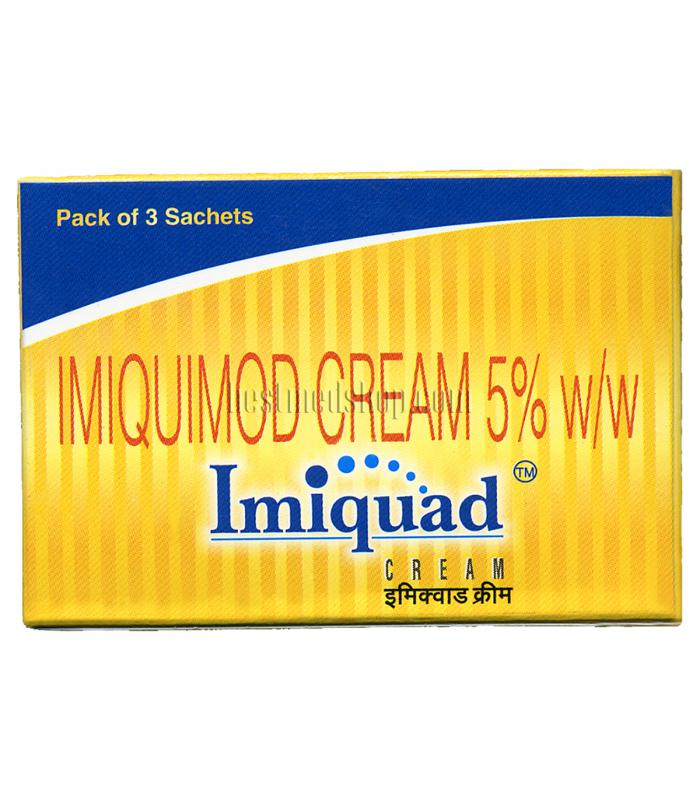 Имиквад Крем 3 пакетика по 250 мг 5% имиквимода в упаковке [Imiquad Cream (pack of 3 sachets 250 mg each of 5% imiquimod)]