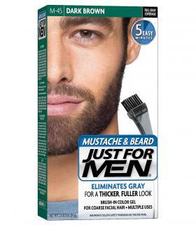Джаст фо Мен - Краска-гель для бороды и усов темно-коричневая Дак Браун M-45 [Just for Men Mustache & Beard Dark Brown M-45]
