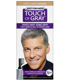 Джаст фо Мен Тач оф Грей Лайт Браун светло-коричневый T-25 [Just For Men Touch of Grey Light Brown T-25]