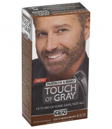 Джаст фо Мен Тач оф Грей - Краска-гель для бороды и усов светло-средне-коричневая B-25/35 [Just for Men Touch of Gray Mustache and Beard Light & Medium Brown B-25/35]