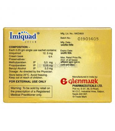 Имиквад (Imiquad) с кремом имикимод производится известной компание Glenmark.